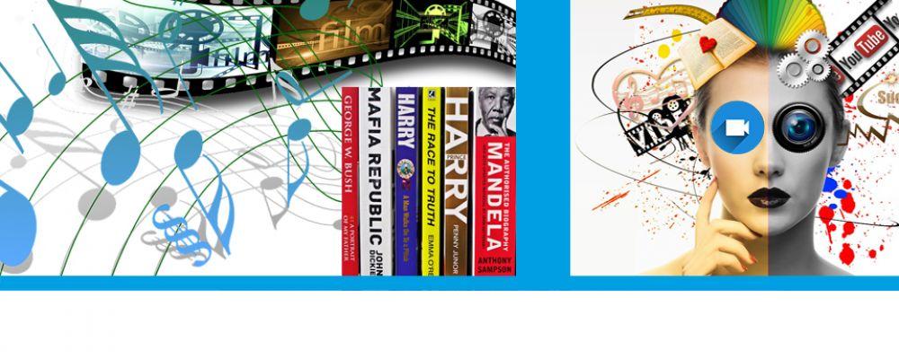 Bücher, Filme & Musik Cover Image